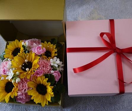 画像3: そのまま飾れるおしゃれなボックスアレンジメント ゴールドボックス